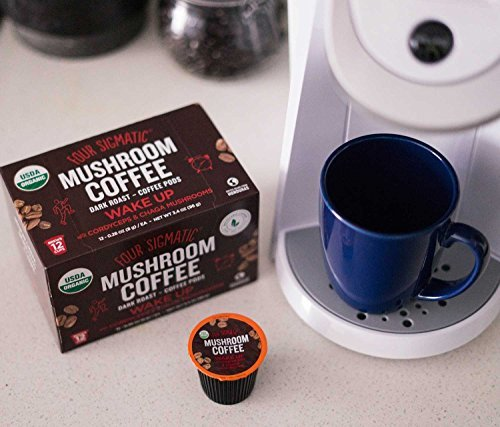Four Sigmatic-KCup Coffee Pods with Chaga and Cordyceps - 12 count