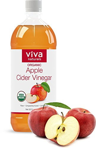 Viva Naturals-Viva Naturals Unfiltered Undiluted Non-GMO Organic Apple Cider Vinegar with the Mother, 32 oz