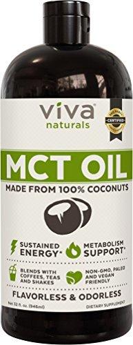 Viva Naturals-Non-GMO Pure Coconut MCT Oil - 32 fl oz
