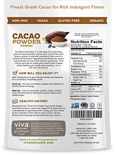 Viva Naturals-Certified Organic Cacao Powder