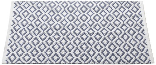 Coyuchi-Coyuchi Diamond Pebble Rug, 2 by 3-Feet, White with French Blue