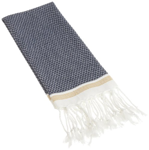 Coyuchi-Mediterranean Guest Towel - Indigo with Mustard Stripe