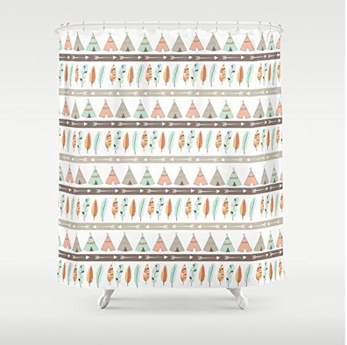Mallory Lynn Decor-Teepee Tribal Pattern Shower Curtain