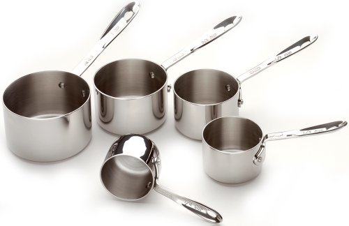 All-Clad-5-Piece Stainless Steel Measuring Cups Cookware Set - Silver
