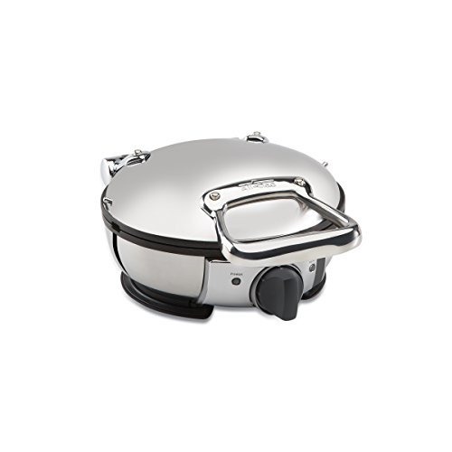 All-Clad-Stainless Steel Classic Round Waffle Maker with 7 Browning Settings