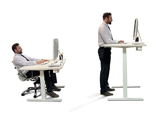 Vifah-Autonomous SmartDesk - Height-Adjustable Standing Desk - Dual Motor - Gray Frame - Bamboo Classic Top