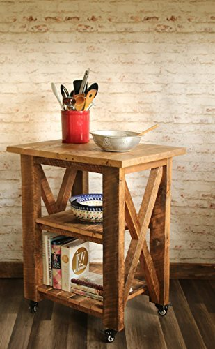 Grindstone Design-Kitchen Island with optional drop leaf made from reclaimed wood