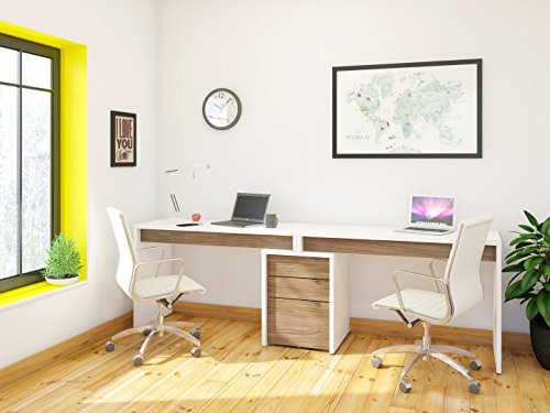 Nexera-Liber-T Home Office Kit with Two Reversible Desk Panels