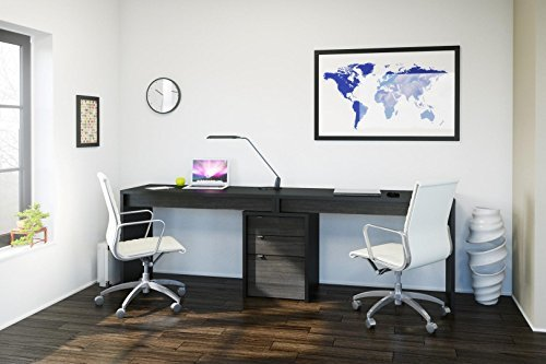 Nexera-Sereni-T Home Office Kit with Two Reversible Desk Panels