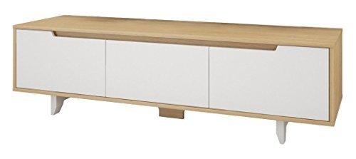 "Nexera-60"" Alibi TV Stand -Walnut and Charcoal"