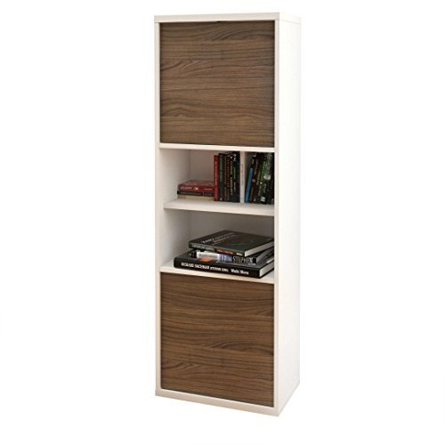 Nexera-Liber-T Home Office Kit with a 2-Door Bookcase