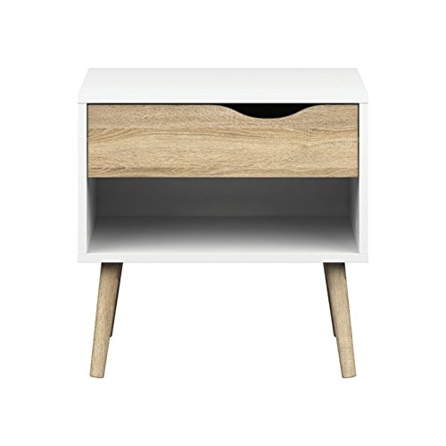 Tvilum-Diana 1 Drawer Nightstand