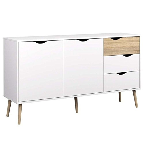 Tvilum-Diana Sideboard with 2 Doors and 3 Drawers