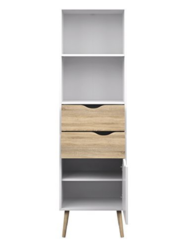 Tvilum-Diana Bookcase with 2 Drawer and 1 Door