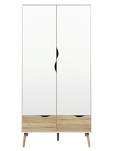 Tvilum-Diana 2 Drawer and 2 Door Wardrobe