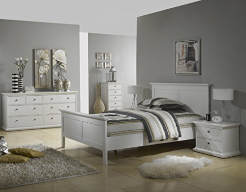Tvilum-Sonoma Queen Bed, White