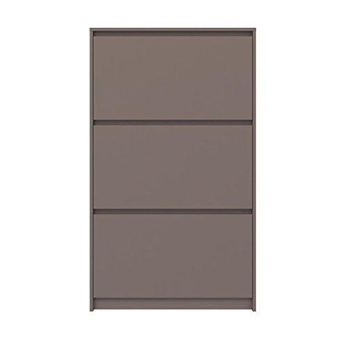 Tvilum-3 Drawer Shoe Cabinet - Mocha High Gloss