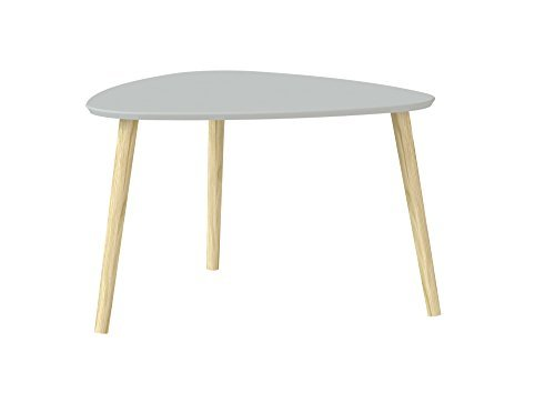 Tvilum-Emery Coffee Table, Large, Bright Grey/Oak