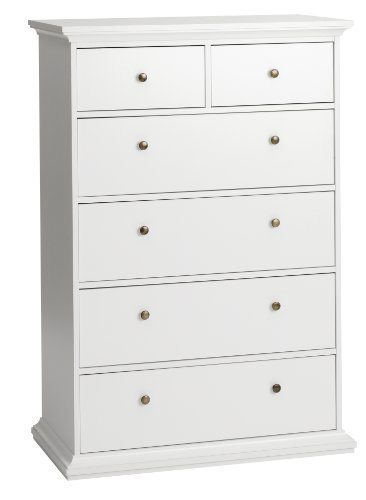 Tvilum-Sonoma 5-Drawer Chest - White