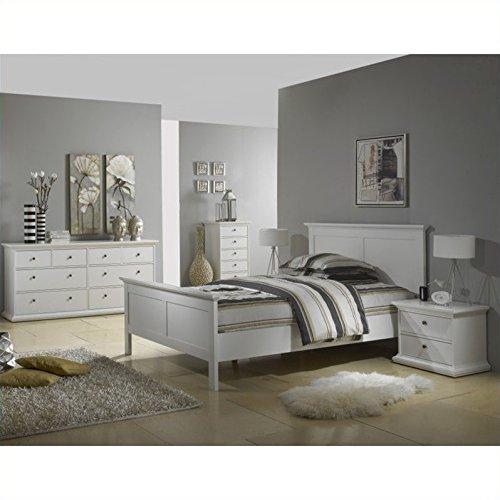 Tvilum-Sonoma 5-Drawer Chest - White