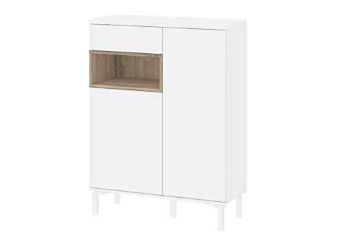 Tvilum-Aberdeen 1 Drawer and 2 Door Sideboard