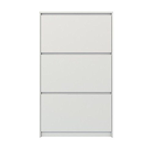 Tvilum-DELETE ME Whitman Plus 3 Drawer Shoe Cabinet in White High Gloss