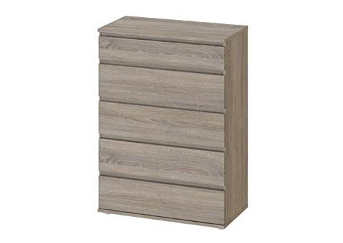Tvilum-DELETE ME Wilson 5 Drawer Wide Chest - Truffle