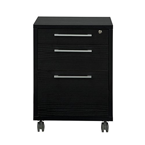 Tvilum-Pierce 3 Drawer Mobile File Cabinet