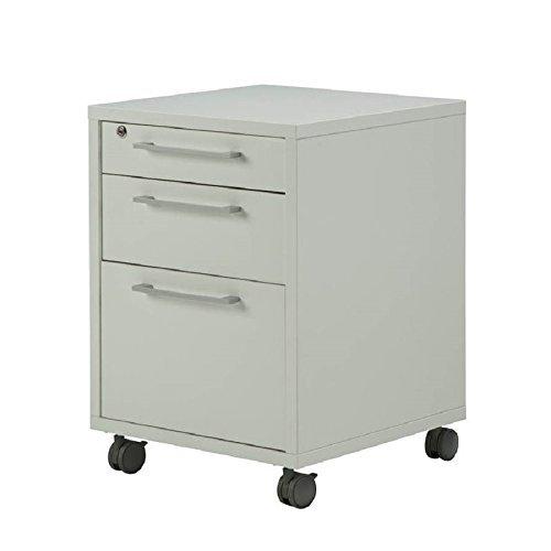 Tvilum-Pierce 3 Drawer Mobile File Cabinet