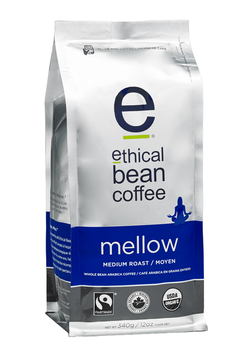Ethical Bean Coffee- Mellow Whole Bean Coffee, Medium Roast