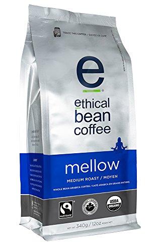 Ethical Bean Coffee- Mellow Whole Bean Coffee, Medium Roast