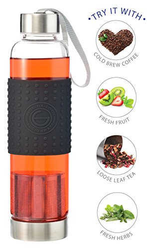 GROSCHE-Marino 550ml/18.6oz Water and Tea Infuser & Cold Brew Coffee maker - Red