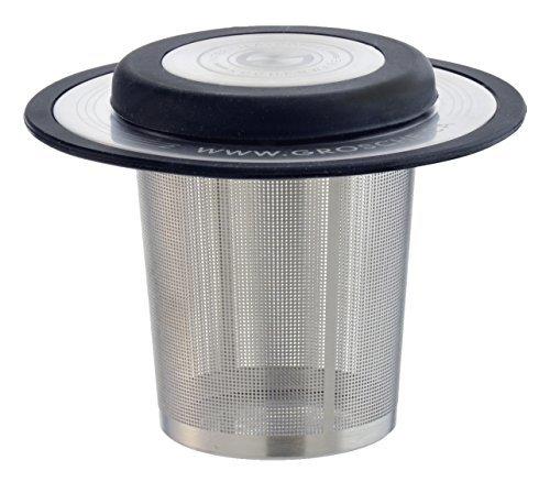 GROSCHE-London Drop In Ultra Fine Laser Cut Stainless Steel Tea Infuser