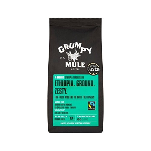 Grumpy Mule-Organic Ethiopia Yirgacheffe Ground Coffee Fairtrade - 2 pack
