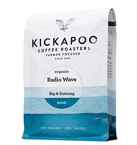 Kickapoo Coffee-Radio Wave Organic Dark Roast Whole Bean