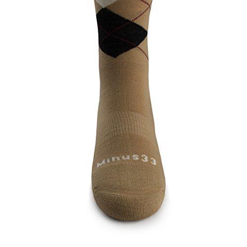 Minus33 Merino Wool- Merino Wool Argyle Sock Natural - Natural Tan