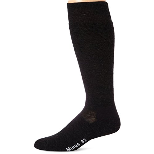 Minus33 Merino Wool-Minus33 Merino Wool Ski and Snowboard Sock, Charcoal, X-Large