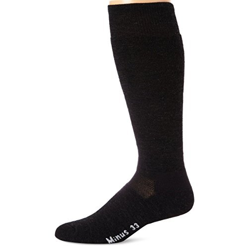 Minus33 Merino Wool-Minus33 Merino Wool Ski and Snowboard Sock, Charcoal, X-Large
