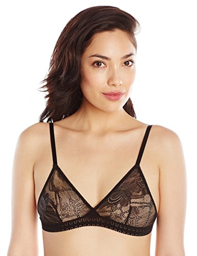 Between The Sheets-Between The Sheets Women's Petal Play Lace Bralette S Black