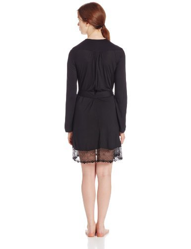 Only Hearts-Modal Short Robe with Lace Hem