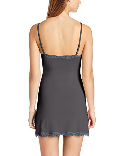 Only Hearts-Delicious Adjustable Strap Chemise with Lace Trim - Black