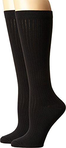 PACT-Knee Socks - Black 2-Pack