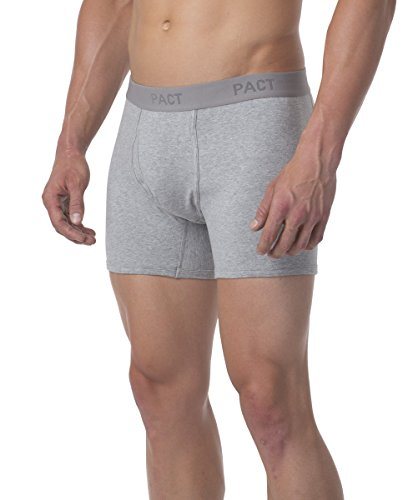 PACT-Organic Men's Boxer Brief - Charcoal + Pine 2 Pack