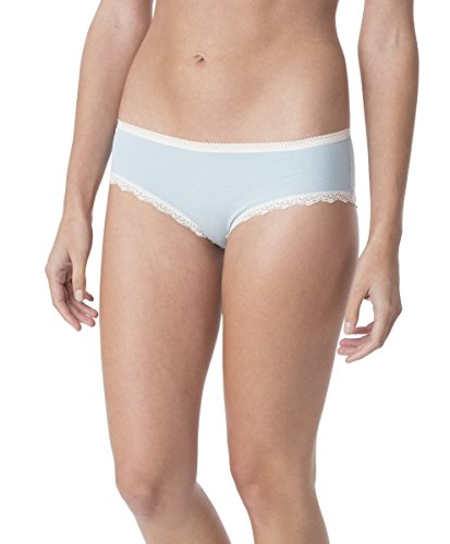 PACT-PACT Super Soft Organic Women's Hipster Panty Style EA2-WHI (Large, Teal/Mist)