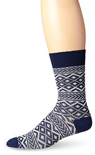 Pact-PACT Men's Patchwork Crew Sock, Navy, One Size