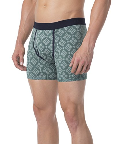 PACT-PACT Men's Super Soft Organic Men's Boxer Brief - SA1-MBB (Small, Pinyon)