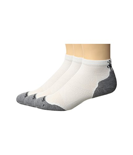 SmartWool-Smartwool  Men's PhD Run LE Light Crew 3-Pack White/Light Gray XL (Mens Shoe 12-14.5)