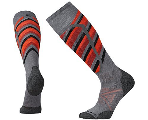 SmartWool-Smartwool Men's PhD Ski Medium Pattern Socks (Graphite) Large