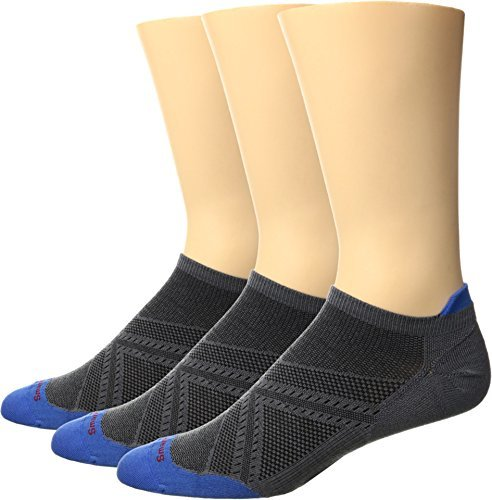 SmartWool-Ultra Light Micro 3-Pair Pack Graphite/Bright Blue Medium