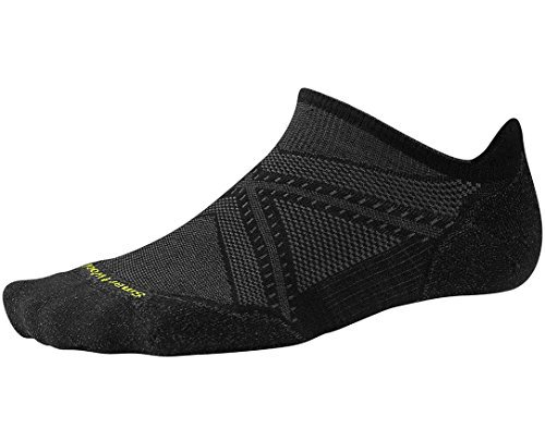 SmartWool-SmartWool Women's PhD Run Light Elite Striped Micro Socks (Black) Large